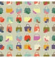 Silhouettes of handbagshoesSeamless pattern vector image
