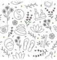 spa seamless pattern spa background in line vector image vector image