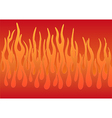 Stylized flames vector image vector image