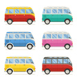 Summer Tourist Bus Colorful Icons vector image vector image