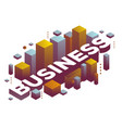 three dimensional word business with abstract vector image vector image