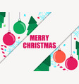 top view christmas decorations with copy space vector image vector image