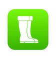 winter shoes icon digital green vector image vector image