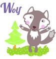 WolfLett vector image