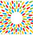 colorful brush stroke background vector image
