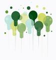 Idea concept of hanging green light bulbs vector image