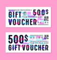 set of gift voucher template vector image