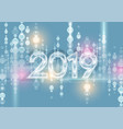 2019 shiny glowing abstract bokeh particles vector image