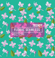 3d floral seamless pattern background texture vector image