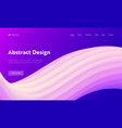 abstract geometric futuristic wave shape web page vector image vector image