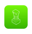 ancient ionic pillar icon green vector image vector image