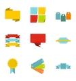 Badge icons set flat style vector image