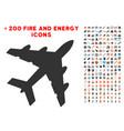 bomber icon with bonus flame set vector image