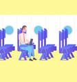 businessman passenger airplane sitting vector image