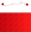 christmas background with red balloons vector image vector image