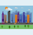 cityscape landscape flat background vector image vector image