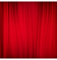 Close view of a red curtain EPS 10 vector image vector image