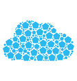 cloud shape of filled pentagon icons vector image vector image