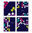 colorful retro templates set vector image