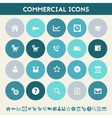 Commercial icons Multicolored flat buttons vector image