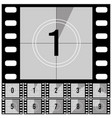 countdown frames retro film movie timer universal vector image