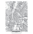 detailed poster city map budapest vector image vector image
