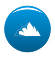 exploration of mountain icon blue vector image vector image