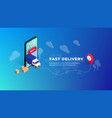 fast delivery isometric design vector image vector image