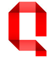 font folded paper letter vector image vector image