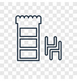 furniture concept linear icon isolated on vector image vector image