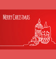 greeting card with hand-drawn christmas candles vector image vector image