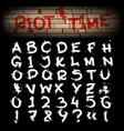 grunge brush hand drawn alphabet vector image vector image