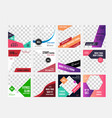 gym and fitness social media pack vector image