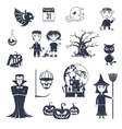 Halloween Black Icons vector image