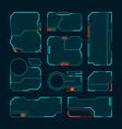 hud frames futuristic design ui templates simple vector image vector image