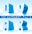 ice alphabet part 6 vector image vector image