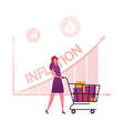 inflation recession and depreciation concept vector image