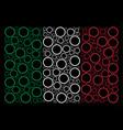 italian flag mosaic of circle bubble icons vector image vector image