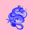 japanese dragon mythological animal or asian vector image vector image