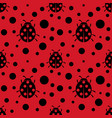 ladybug pattern seamless vector image vector image