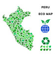 leaf green composition peru map vector image vector image