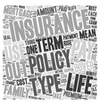 Life Insurance When Only The Best Will Do text vector image vector image