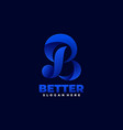 logo letter b gradient colorful style vector image