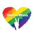 Love Wins - LGBT Heart vector image