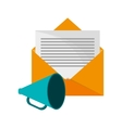 message envelope and megaphone icon vector image vector image