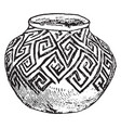 mexican tusayan jar sketched in the american vector image vector image