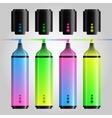 Multicolored felt pen or highlighter set vector image vector image