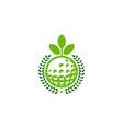 nature golf logo icon design vector image