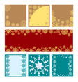 new year set of banners with snowflakes vector image