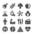 nutrition icon vector image vector image